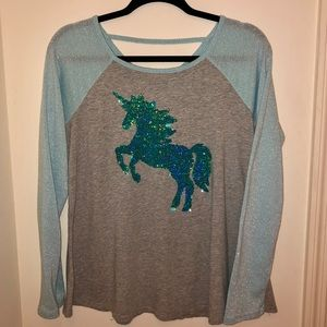 Justice Unicorn Top Reversible Sequins 20